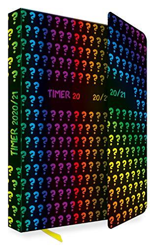 Trötsch Schülerkalender mit Klappe Rainbow 2020/2021: Schulplaner Hausaufgabeheft Timer Terminkalender