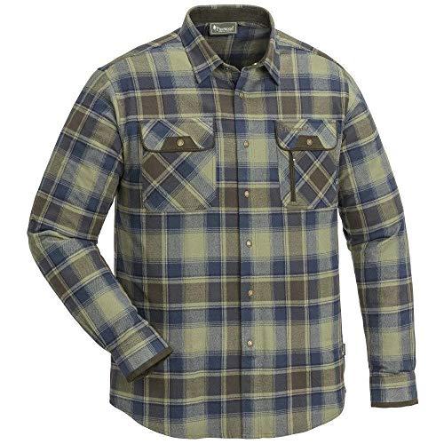 Pinewood Herren Prestwick Exclusiv Klassisches Hemd, Light Green/Navy, 4XL