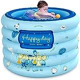 LPing Swimming Pool,aufblasbarer Babyteppich,Planschbecken,Klappbecken mit Luftpumpe und Badring,PVC-Dicke für Babys,einschließlich Shampoo-Kappe,Wassertemperaturkarte,Ozeanball usw