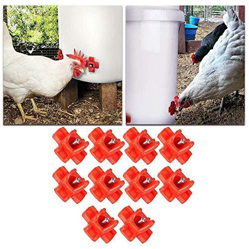 10 Piezas Pezones De Agua De Aves De Corral Alimentador Auto