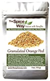 The Spice Way Orange Peel - Granules | 4 oz |without any preservatives. Great for cooking, baking...