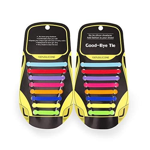 MAROL Elastische Silikon Schnürsenkel – Ohne Binden – Silikonschnürsenkel – Schnürsenkelersatz, Schleifenlose Schuhbänder – Gummischnürsenkel für alle Schuhe – Kinder & Erwachsene (Mischen)