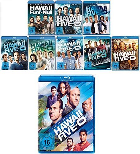 Hawaii Five-O - Staffel 1+2+3+4+5+6+7+8+9 im Set - Deutsche Originalware [50 Blu-rays]