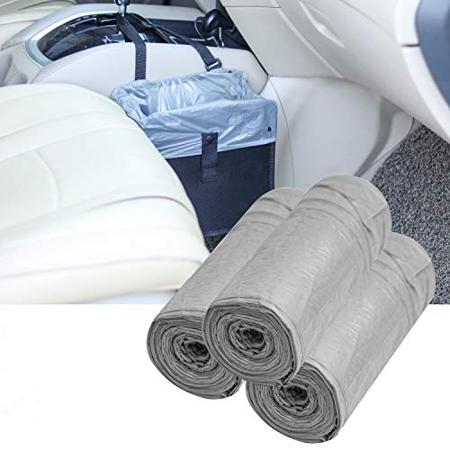 Moonet Disposable Plastic Garbage Bag for Car Garbage Can Hanging Trash Can Bin,40X45cm,Gray 90pcs (30pcs X 3 Roll)
