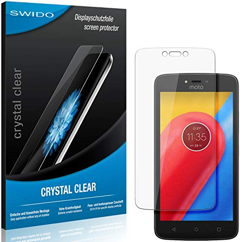 SWIDO Schutzfolie für Lenovo Moto C LTE [2 Stück] Kristall-Klar, Hoher Festigkeitgrad, Schutz vor Öl, Staub & Kratzer/Glasfolie, Bildschirmschutz, Bildschirmschutzfolie, Panzerglas-Folie