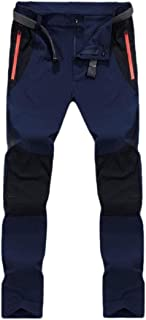 maweisong Men Outdoor Quick Dry Hiking Mountain Cargo Pants with Zipper Pockets