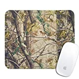 Royal Up personalized Camo Tree Nature Realtree office desktop or gaming ergonomic medium large Cloth surface Natural rubber Rectangle Mouse Pad(9.5x7.9inch)