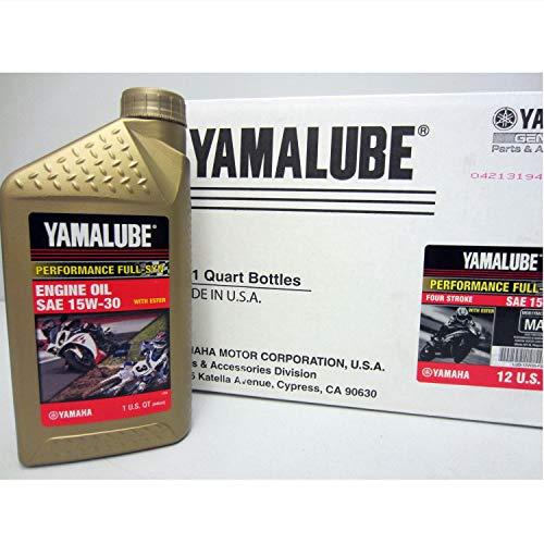 Yamaha LUB-15W30-FS-12 Yamalube 15W30 Full Synthetic Race Oil Quart; LUB15W30FS12 Made by Yamaha