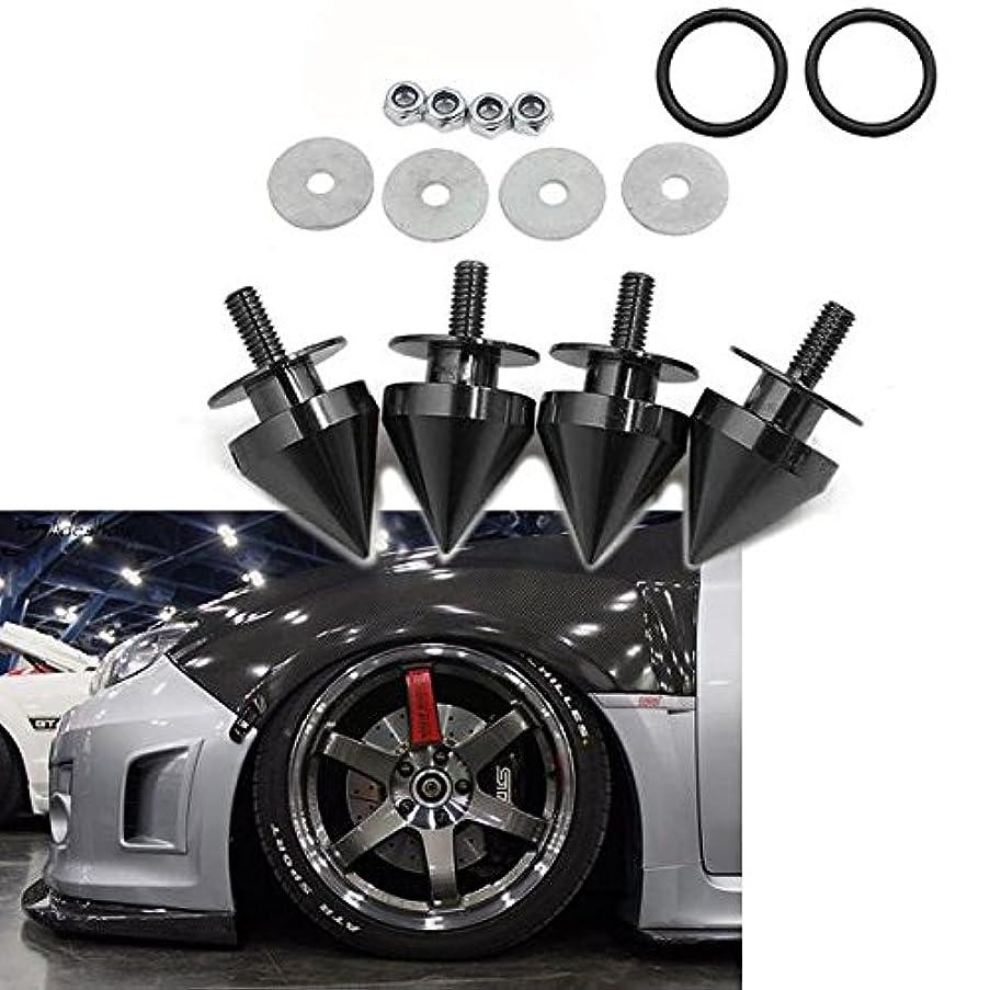 Xotic Tech JDM Quick Release Fasteners For Car Bumpers Trunk Fender Hatch Lids Spike ALUMINUM Black