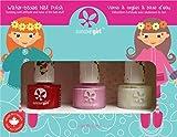 Suncoat Girl Ballerina Beauty Kit de 3esmalte de uñas al agua para niño