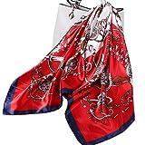 Ecroon Fulares Pañuelos para la cabeza Bufandas Pañuelo de Cuadrado para Mujer (G, One size)