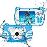 CamKing wasserdichte Digitalkamera für Kinder,1080P Unterwasser Kinder Videokamera 18 MP 2,7 Zoll Bildschirm 8X Mini Kinder Digitale Camcorder für Kindergeschenke (Blau)