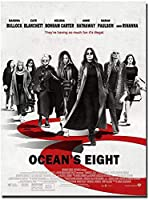 Oceans 8 Movie Art Poster Canvas Painting Wall Picture Living Room Home Decor Gift Canvas Print - 50X70Cm Unframed