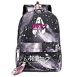 ZZGOO-LL Anime Movie Pretty Girl with Chain USB Anime Mochilas Backpack Escolar para Hombres Mujeres Trabajo, Tableta Unisex Gray-E