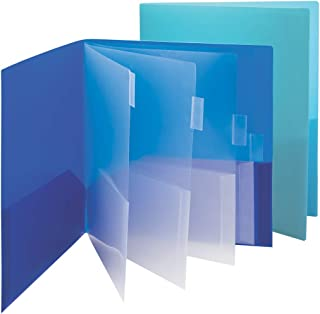Smead 10-Pocket Organizer, Letter Size, 2 per Pack, 1 Each of Dark Blue and Teal (89204)