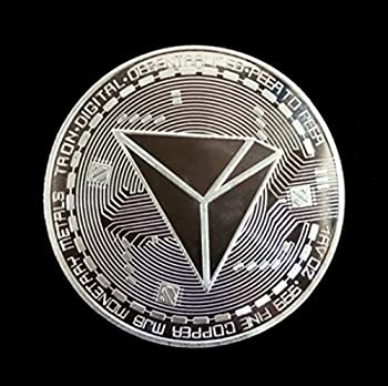 Tron TRX | Cryptocurrency Virtual Currency | Silver Plated Challenge Art Coin | Bitcoin