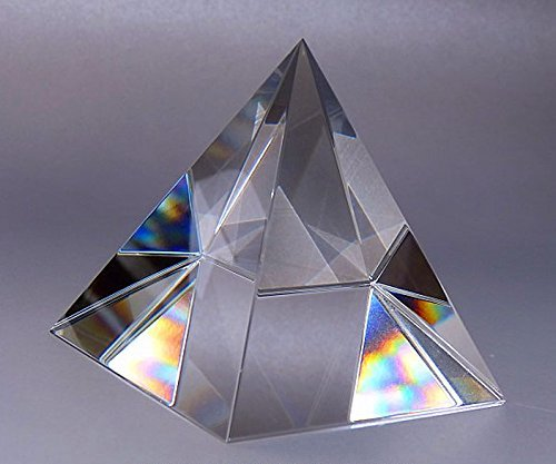 Amlong Crystal Clear Crystal Pyramid 3 inch with Gift Box