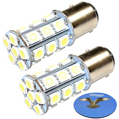 HQRP 2-Pack LED Light Bulb Compatible with Hella Marine Series 2984 2 NM All Round/Anchor Lamp, 8GA 003 488-121 / 8GA 003 488-301 / 8GA 003 488-131 / 8GA 003 488-311 Replacement + HQRP Coaster