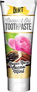 The Dirt All Natural Gluten & Fluoride Free Coconut & MCT Oil Toothpaste - Natural Teeth Whitening Toothpaste Botanically ...