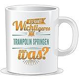 getshirts - Rahmenlos Geschenke - Tasse - Sportart Trampolin springen - es gibt wichtigeres als - Petrol - Uni Uni