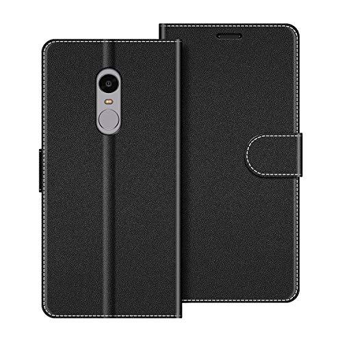 COODIO Handyhülle für Xiaomi Redmi Note 4 Handy Hülle, Xiaomi Redmi Note 4 Hülle Leder Handytasche für Xiaomi Redmi Note 4 Klapphülle Tasche, Schwarz