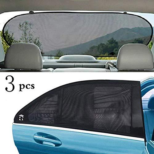 Weiyudang parasoles universales para ventanillas de coche, bloquean los rayos UV, mosquitera para coche, cortinas para ventana lateral