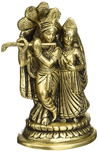 Radha Krishna Laiton Statue Dieu Hindou Religieux Cadeaux