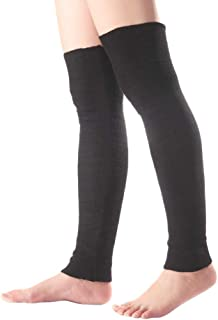 Long Footless Socks Soft Cashmere Knee High Leg Warmers for Sports Yoga