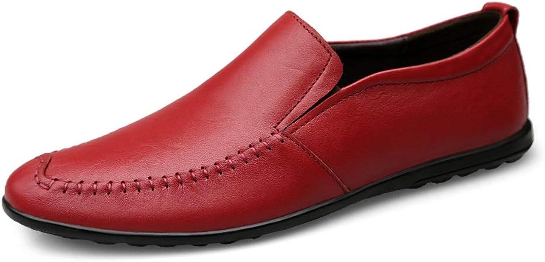 MUWU Loafer for män Boat Mocasins Slip On Style OX OX OX läder mode Sewing Round Toe (färg  Vine röd, Storlek  9.5 D (M) US)  kommer att göra dig nöjd