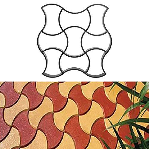WISFORBEST Molde para Cemento Molde para Hormigón Suelo Caminos Pavimientos Jardín Patio Balcón Terraza Material de Plástico Resistente 49 x 49cm