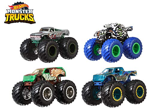 Hot Wheels Monster TRUCKSS 1:64 4-Pack AST Vehicles