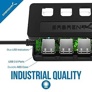 سعر Sabrent 4-Port USB 2.0 Hub مع مفاتيح