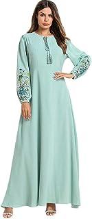1b4855cfd12 Musulmane Robe de Mariée Caftan,Daysing Longue Robe Maxi pour Femmes à  Double Couche en