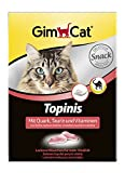 GimCat Topini con quark, taurina e vitamine – Snack sano per gatti per una maggiore vitalità – 1 confezione (1 x 220 g)