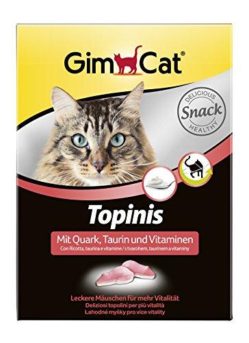 GimCat Topinis mit Quark, Taurin und Vitaminen - Gesunder Katzensnack für mehr Vitalität - 1 Packung (1 x 220 g)
