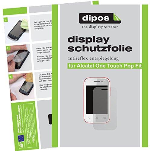 dipos I 2X Schutzfolie matt kompatibel mit Alcatel One Touch Pop Fit Folie Bildschirmschutzfolie