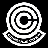 Dragon Ball Z Capsule Corp Decal Sticker for Room Car Window Laptop (5.5' inches (White)