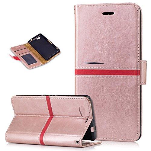 Kompatibel mit Sony Xperia Z1 Compact Hülle,PU Lederhülle Flip Hülle im Ständer Wallet Soft Silikon Magnetverschluss Kunstleder Hülle Tasche Tasche Schutzhülle für Sony Xperia Z1 Compact,Rosa