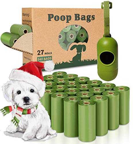 Yingdelai Dog Poop Bag 540 Counts Biodegradable Dog Waste Bags with 1 Dispenser EcoFriendly LeakProof Pet Poop Bags for Doggy | Scented