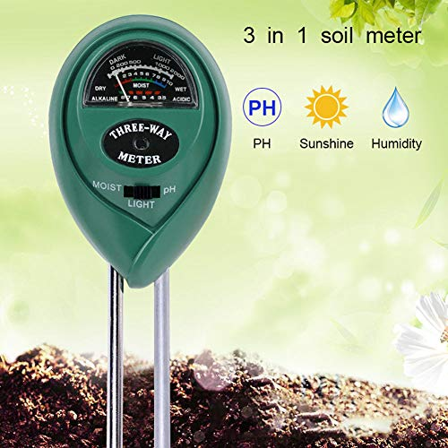 Why Choose Emoly Soil pH Meter, 3-in-1 Soil Testing Kit with Moisture, Light and PH Tester for Plant...
