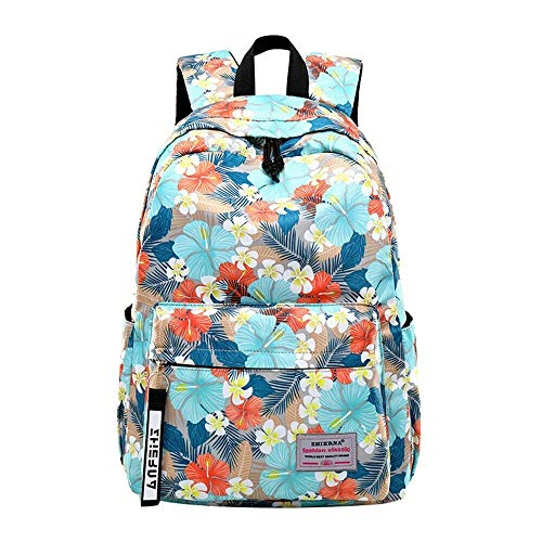 Backpack The end quality backpack girls primary and secondary schools for boys and girls casual wear waterproof backpack backpack girl printing leisure backpack dabeiUK (Color : Flowers)