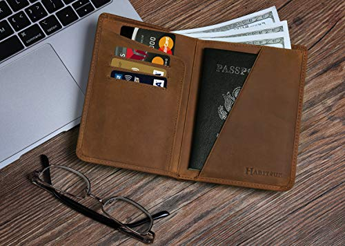 Drops Wet Glass Leather Passport Holder Cover Case Travel One Pocket