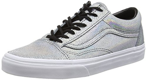 Vans Old Skool, V1R1GZC,  Unisex-Erwachsene Sneakers, Silber (Matte Iridescent/Silver), 40 EU