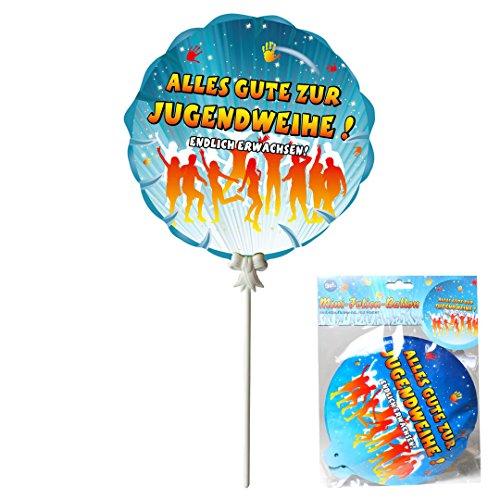 Unbekannt Deko Geschenk Ballon Jugendweihe, 3-TLG, selbstaufblasend