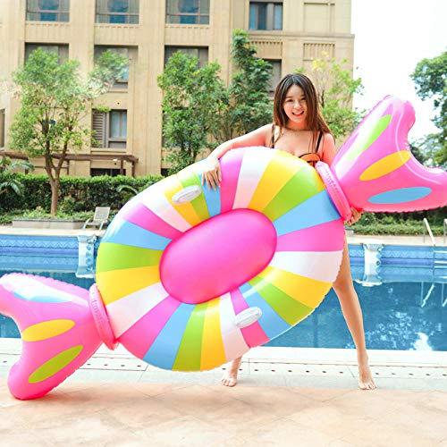 Giant Candy Aufblasbarer Pool Float für Erwachsene Kinder Lollipop Liegerad Matratze Wasser Sommerfest Spielzeug 210 * 90 * 20cm