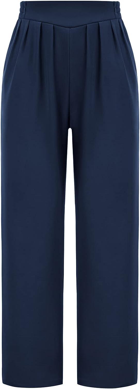 80s Jeans, Pants, Leggings | 90s Jeans GRACE KARIN Womens Casual Work Cropped Pant Pocket High Waist Button Trouser Pants  AT vintagedancer.com