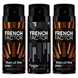 The French Factor Man of the year Deodorant 2 x 150ml & Fugo