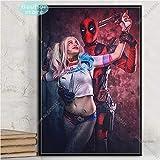 Harley Quinn Joker Squad Art Poster Leinwand Malerei