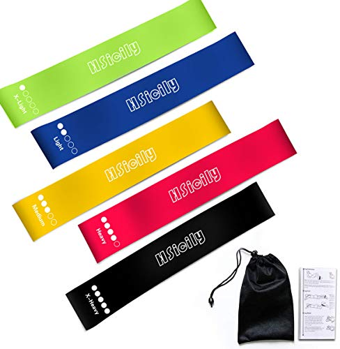 HSicily Resistance Bands for Legs and Butt Glutes Exercise Bands Set Booty Fitness Belts Hip Workout Bands Anti Slip Elastic for Squat Thighs Training Yoga Strength