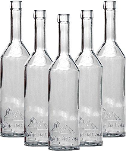 6 Dekoflaschen klar, 32 x 7 cm, Glasflasche, Flasche, Vase, Tischdeko